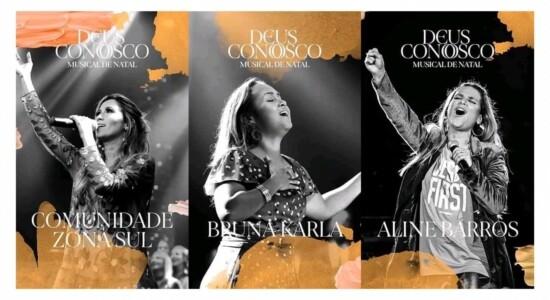 Igreja terá musical de Natal com Bruna Karla e Aline Barros