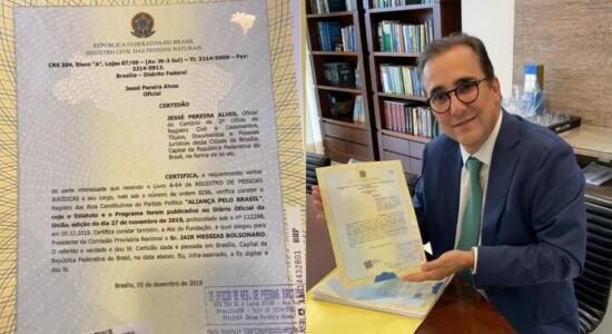 Registro do partido Aliança pelo Brasil