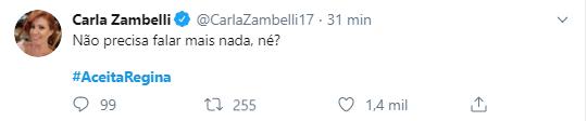 Internet faz campanha para Regina Duarte aceitar convite de Bolsonaro