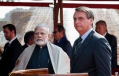 Primeiro-ministro da Índia, Narendra Modi e presidente Jair Bolsonaro