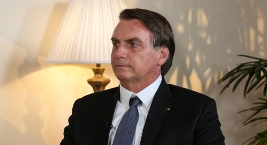 Presidente Jair Bolsonaro durante Entrevista para o canal DD India