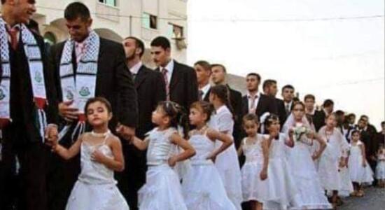 Casamento coletivo na Palestina