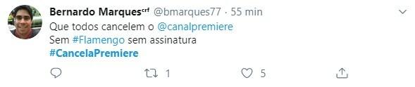 Torcedores fazem campanha para cancelamento do Premiere