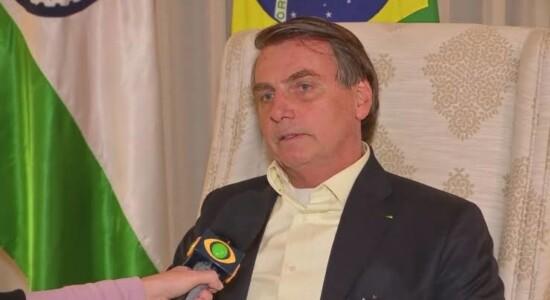 Presidente Jair Bolsonaro durante entrevista à TV Band