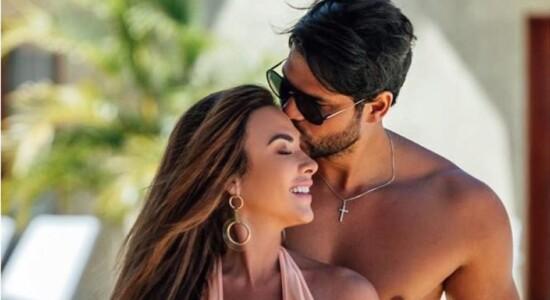 Nicole Bahls com o marido Marcelo Bimbi