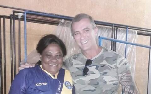 Tânia Mota junto com Paulo Barros