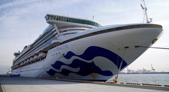 Cruzeiro Diamond Princess continua parado em Yokohama