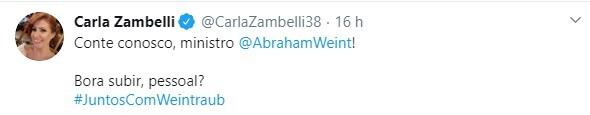 Internautas e políticos apoiam continuação de Weintraub no MEC